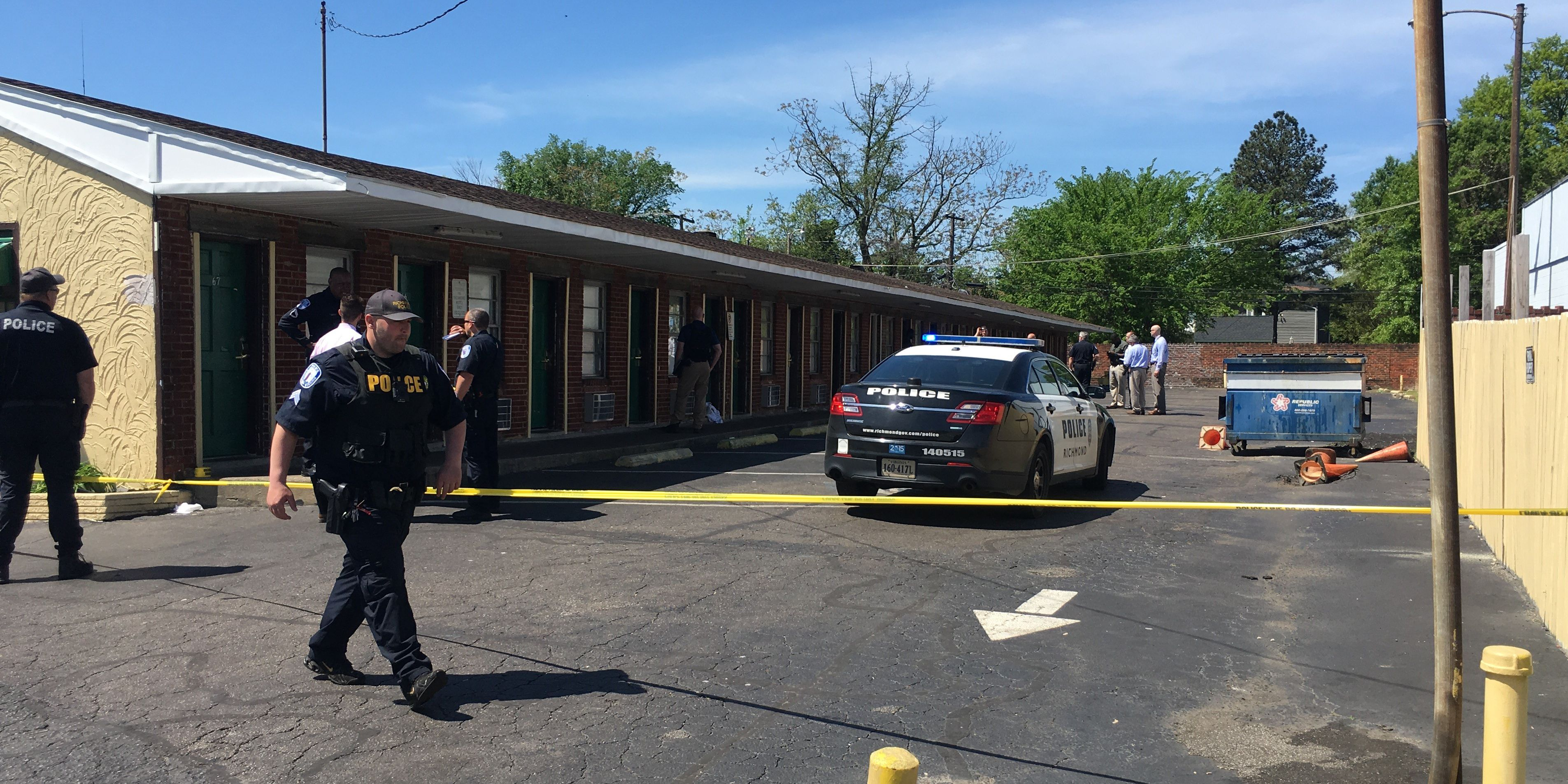 1 shot, another injured at motel in Richmond