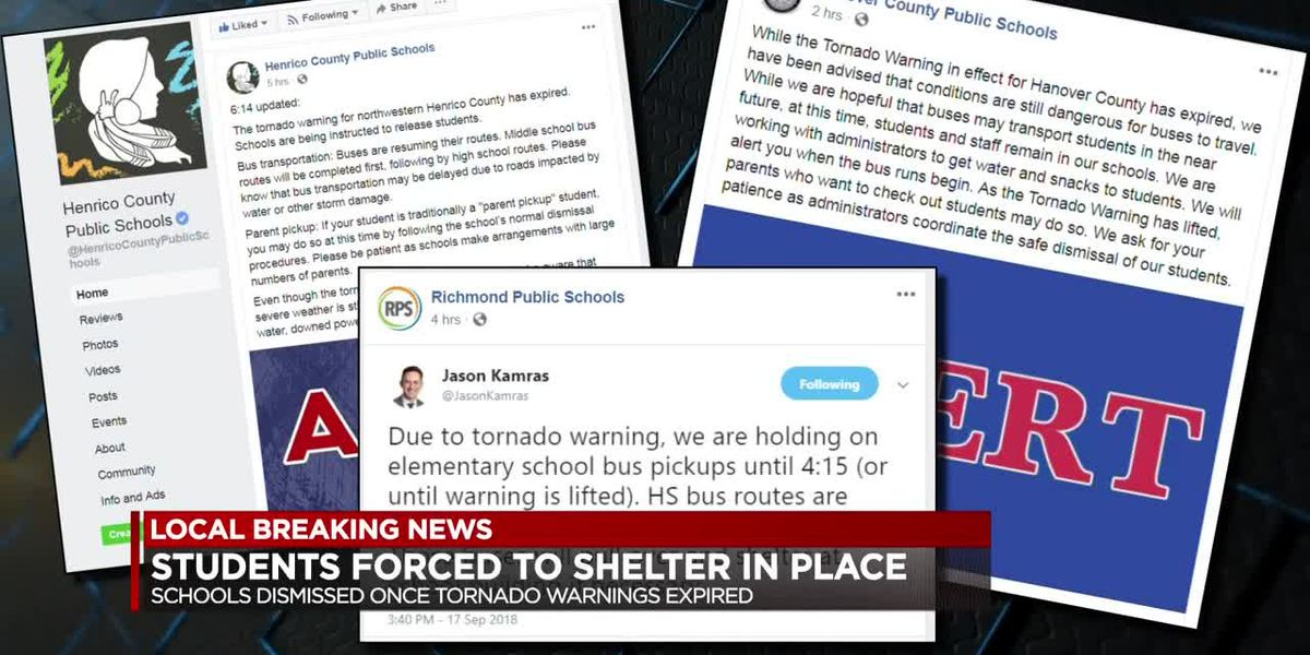 Students shelter in place during tornado warnings