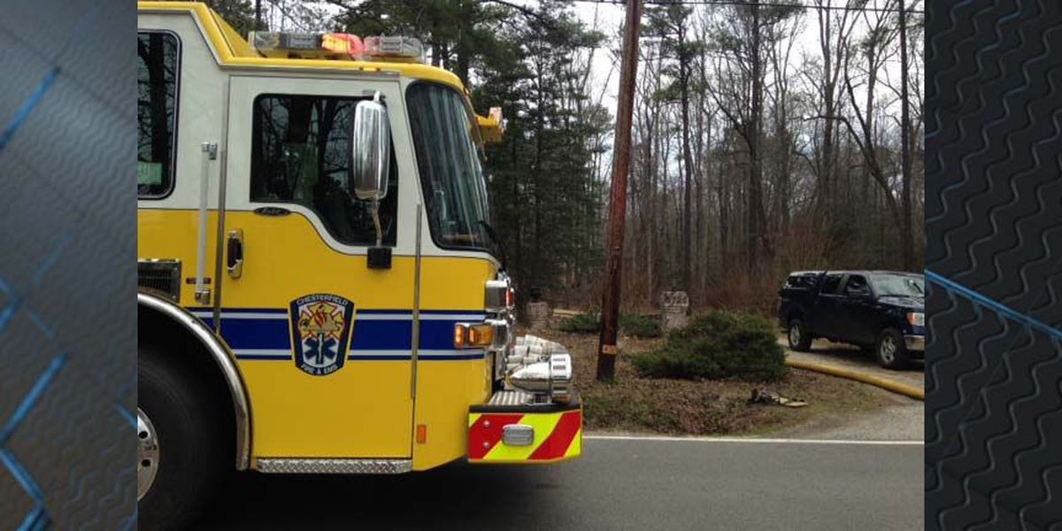 Fire blocks portion of Centralia Road in Chesterfield
