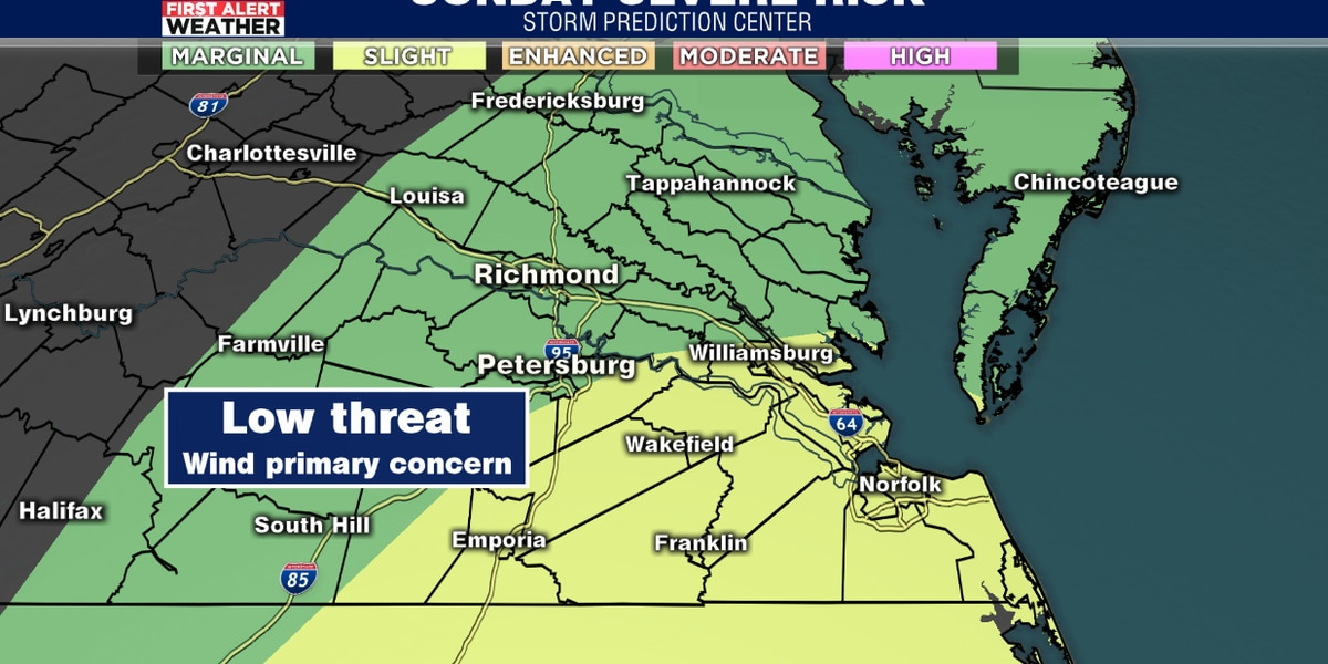 First Alert Weather Day: Strong storms possible Sunday