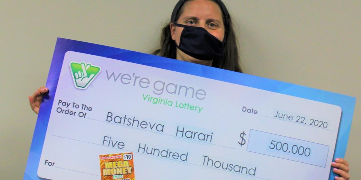 Richmond woman wins $500,000 from scratch-off ticket
