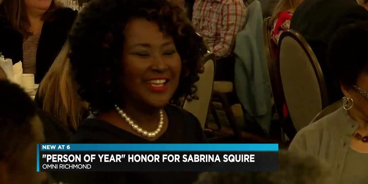 "NBC12's Sabrina Squire honored as one of the Richmond Times Dispatch's ""Persons of the Year"" for 2018"