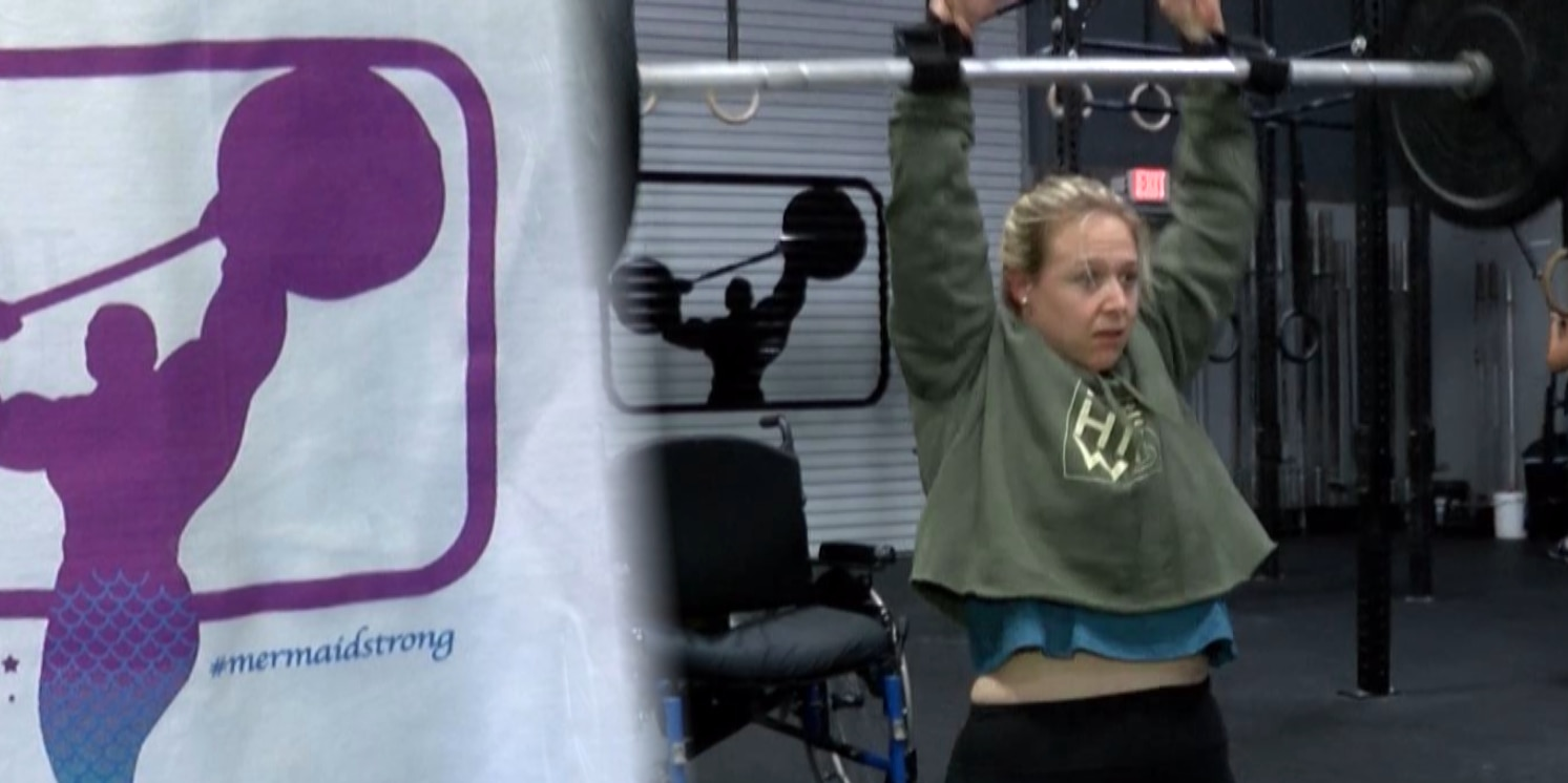 'Mermaid-like' athlete qualifies for fitness competition