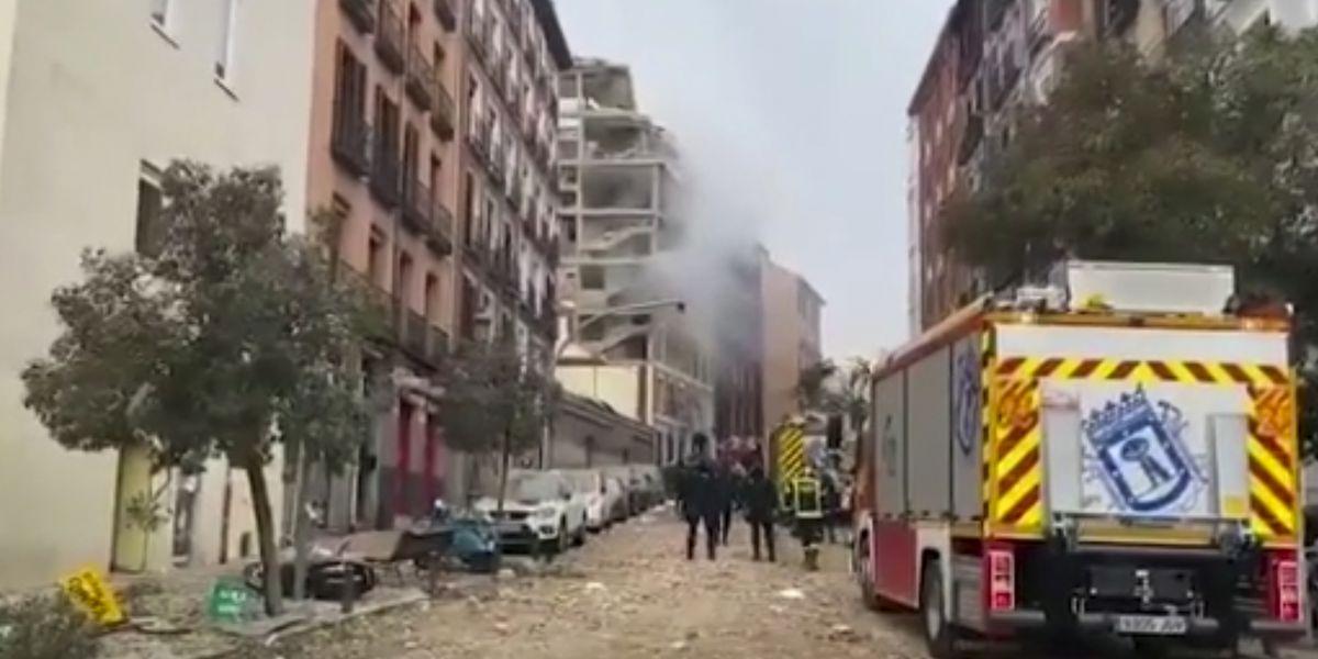 Gas explosion rips through Madrid building, killing 4