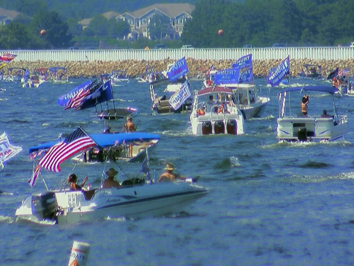 More than 3,400 boats participated in Lake Murray parade in support of President Trump, organizers say