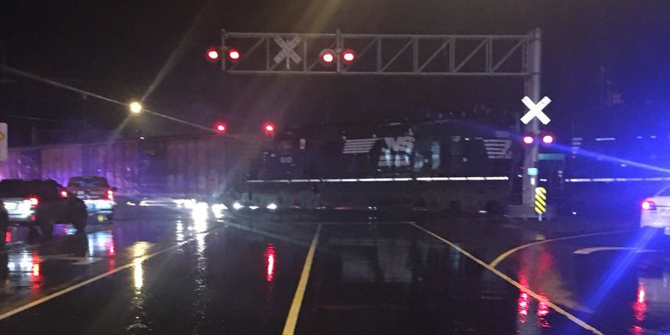 No one injured when train struck vehicle in Chesterfield