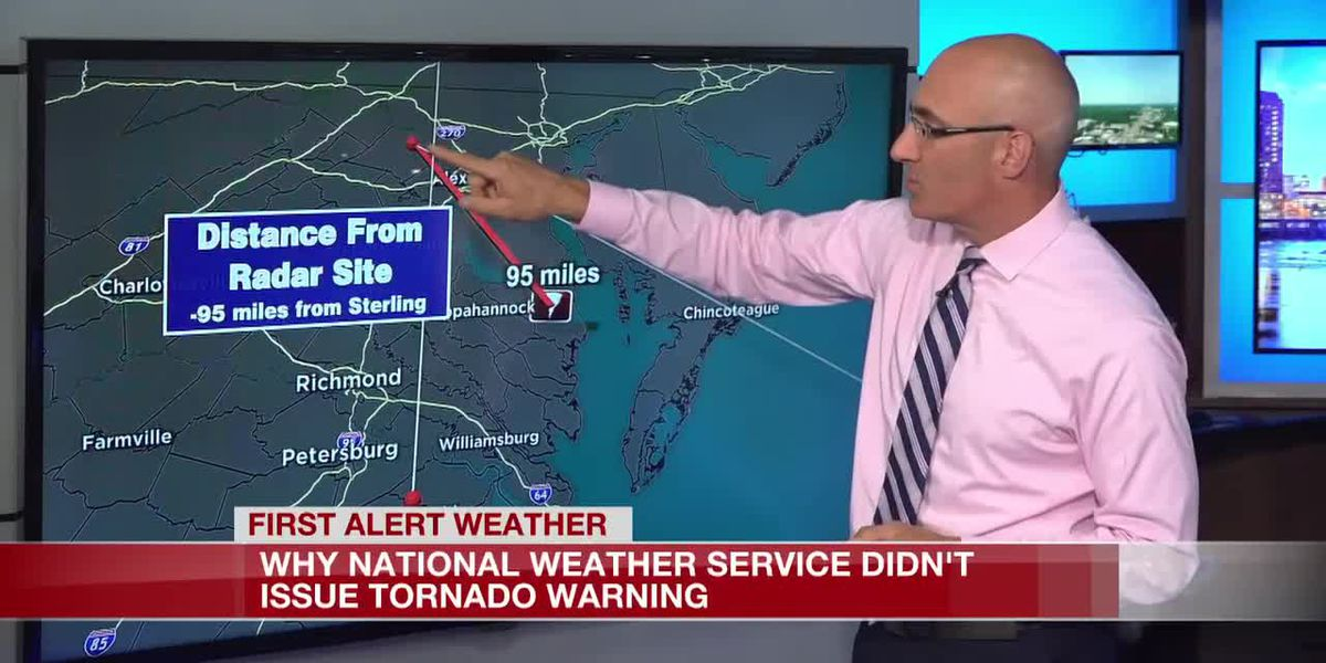 Why the national weather service didn't issue a tornado warning in Northumberland Co.