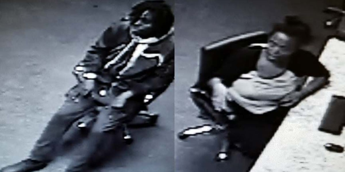 Burglary suspects enter apartment mailroom, open packages and try on clothes
