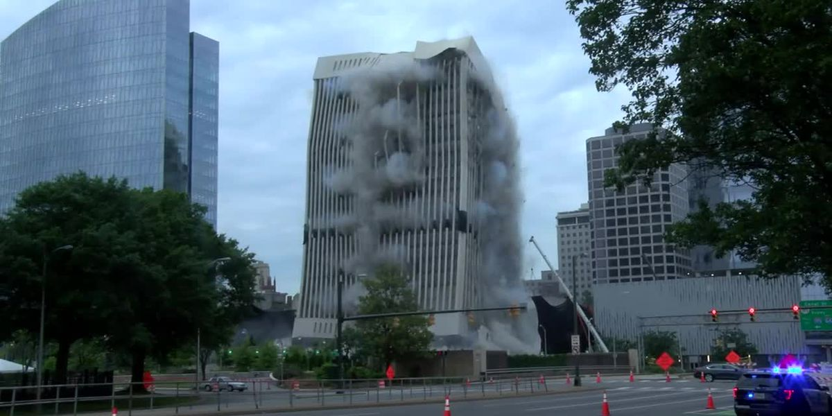 Old Dominion Energy headquarters demolished in downtown Richmond