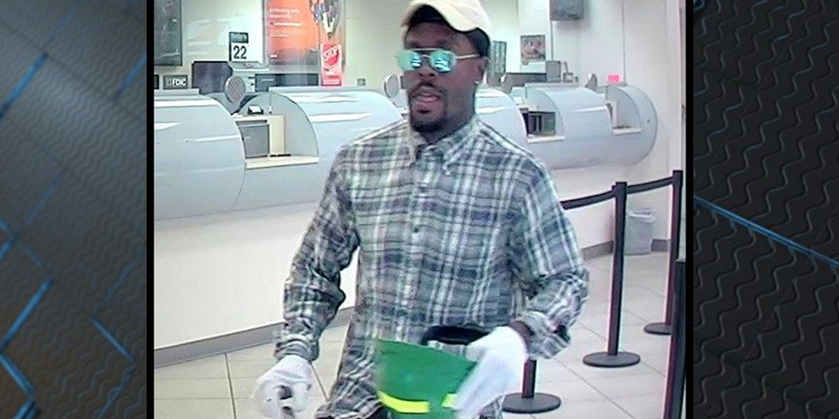 Man wearing sunglasses, white gloves wanted for attempted bank robbery