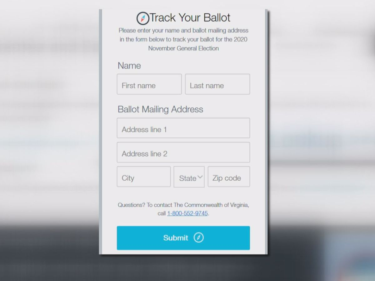 How to track your absentee mail-in ballot in Virginia