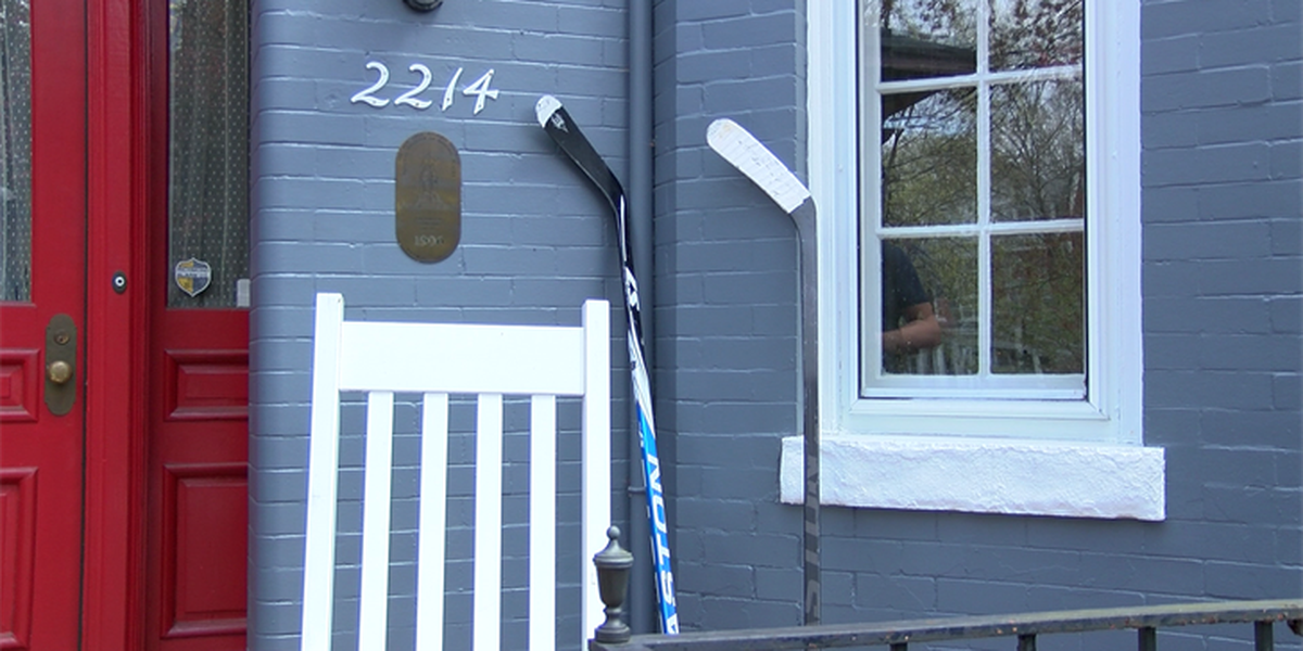 Hockey fans leave sticks on porches to remember tragedy in Canada