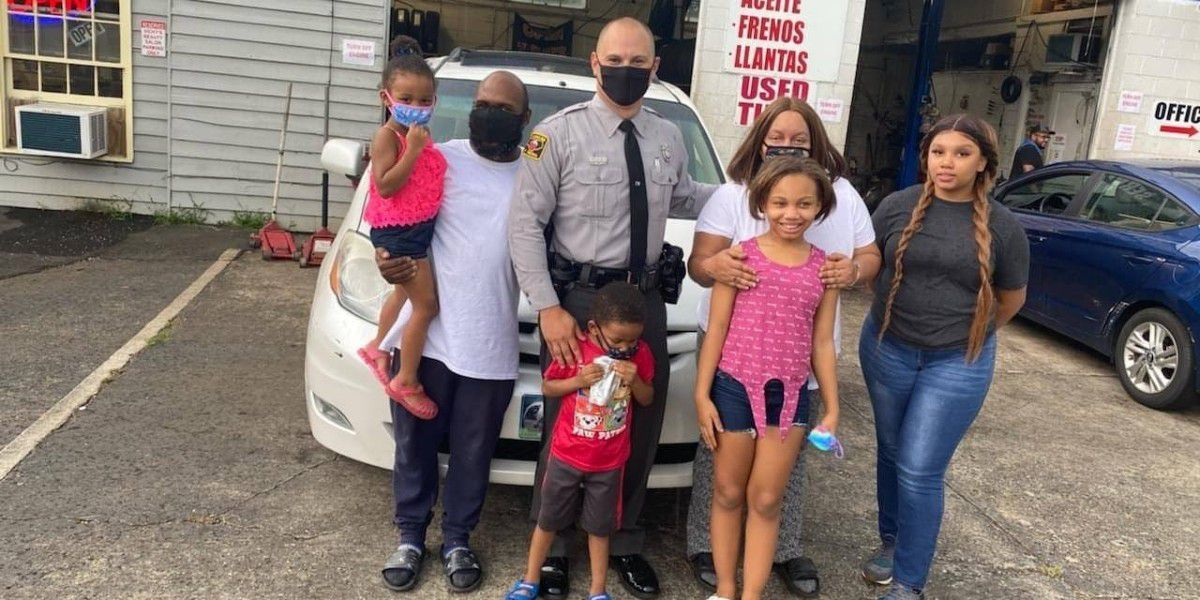 N.C. trooper buys brand new tires for family broken down on busy highway