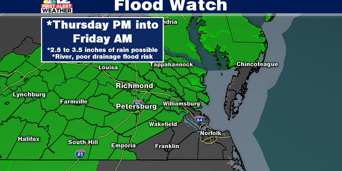 First Alert Weather Day: Flooding likely Thursday into Friday