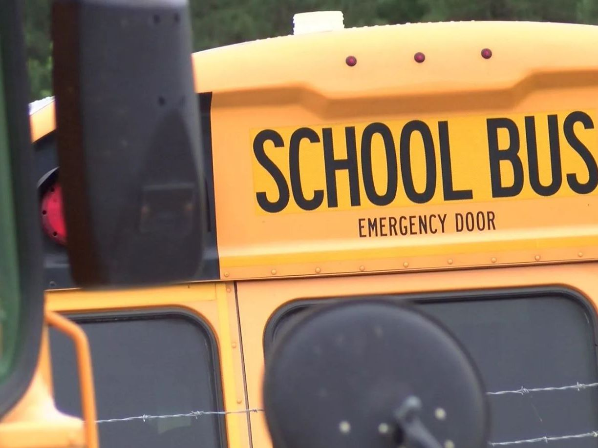 No injuries reported when school bus with students on board crashes