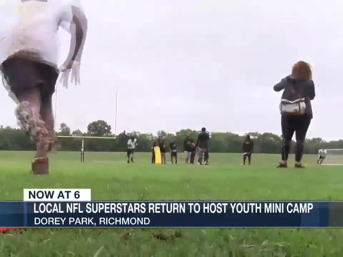 Local NFL superstars return to host youth mini camp