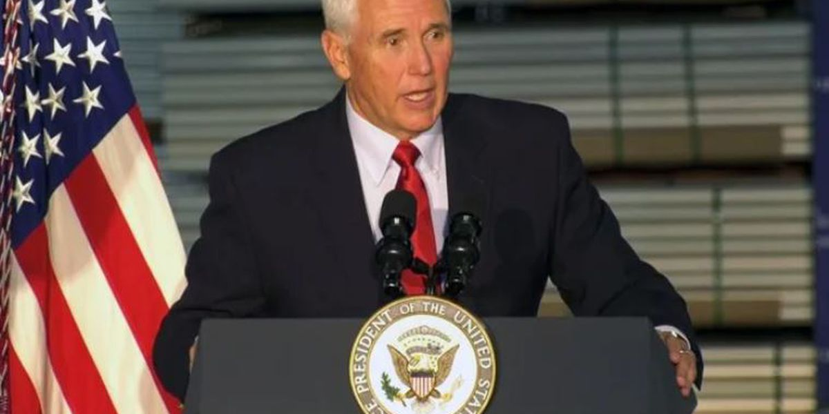 Vice President Pence visits Walmart Distribution Center in Virginia