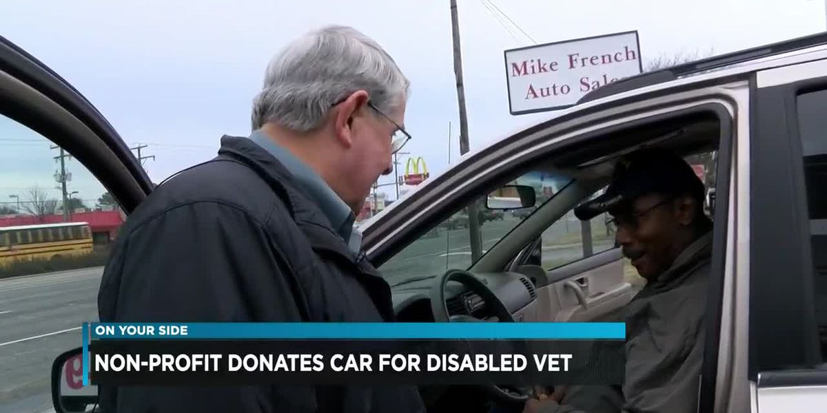 Non-profit donates car for disabled vet
