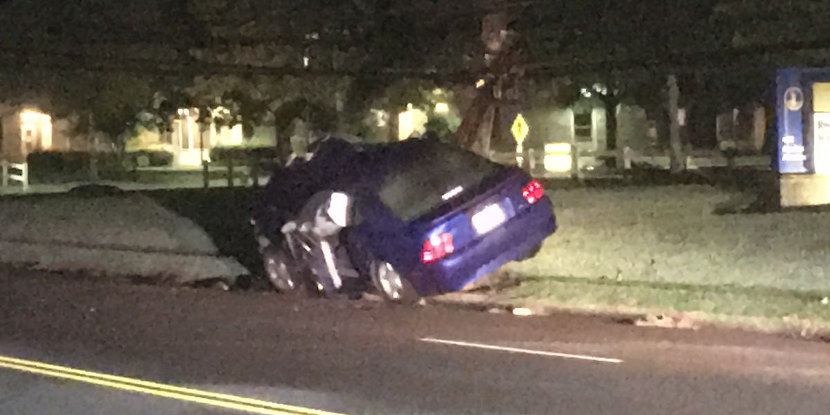 Henrico police: Driver was texting when he crashed into power pole