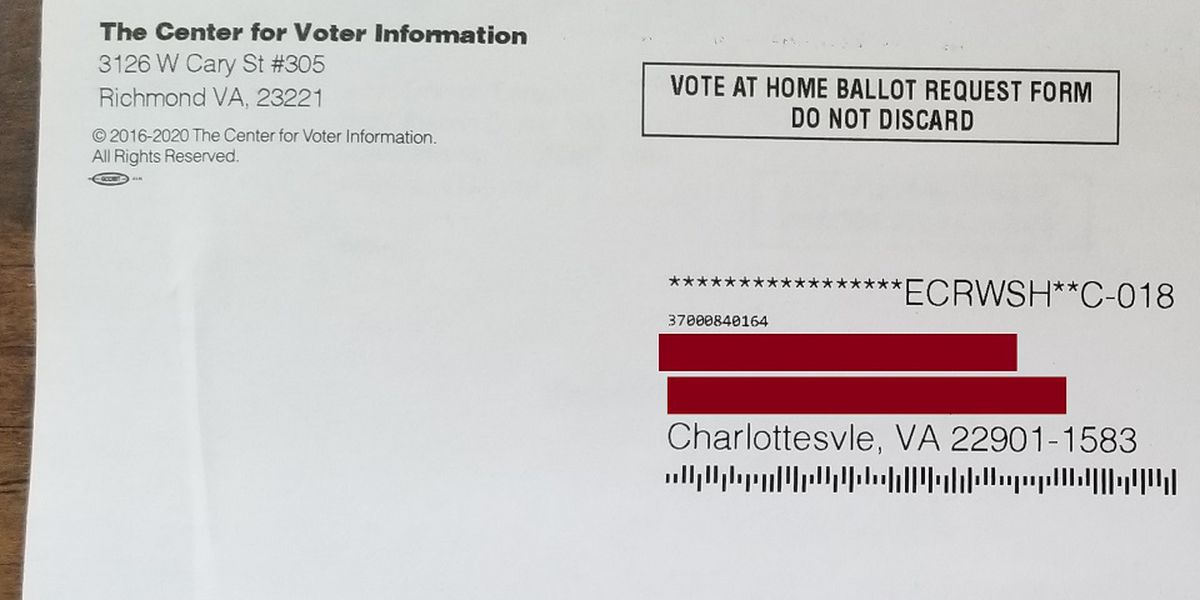 Chesterfield voters included in erroneous absentee ballot applications