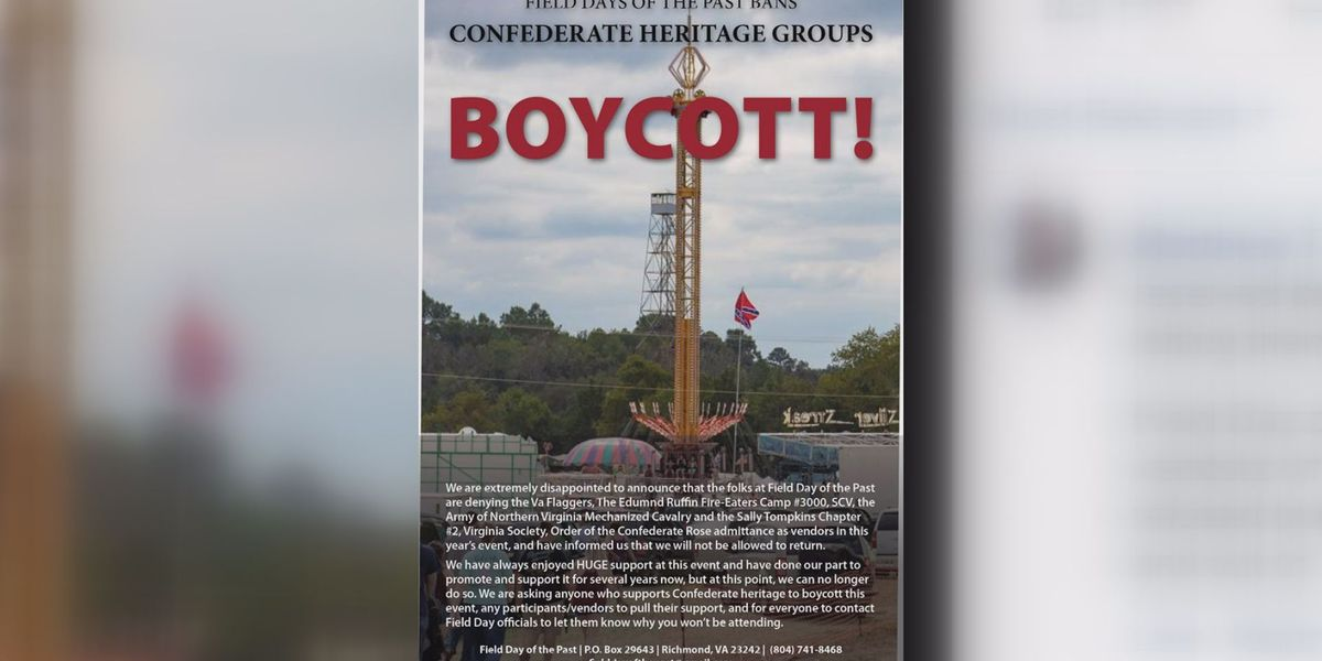 Virginia Flaggers banned from Goochland festival; now calling for boycott
