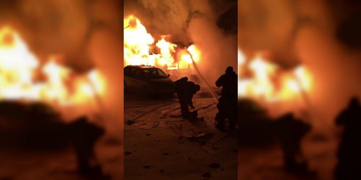 Massive flames break out at Chesterfield home