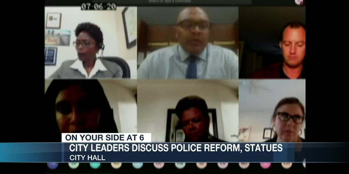 City leaders discuss police reform, statues