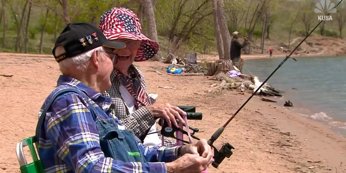 104-year-old fisherman 'catches' a 94-year-old girlfriend