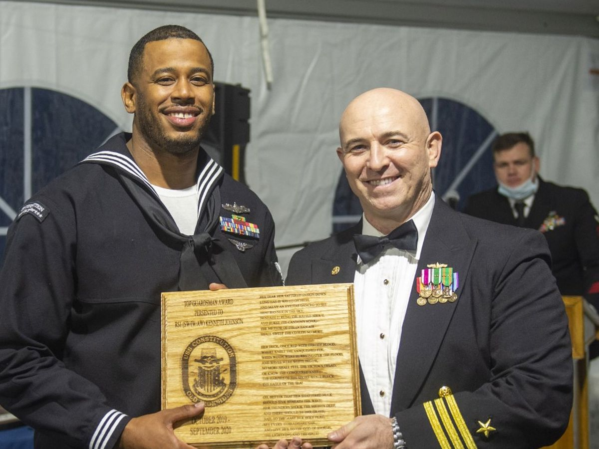Chester native honored with USS Constitution's Top Guardsman award