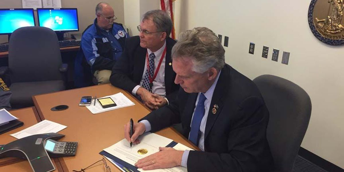 Gov. McAuliffe declares State of Emergency in VA