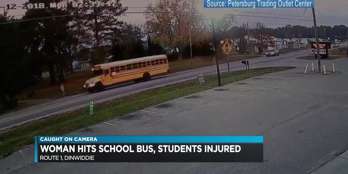Woman charged after school bus crash sends 5 children to hospital