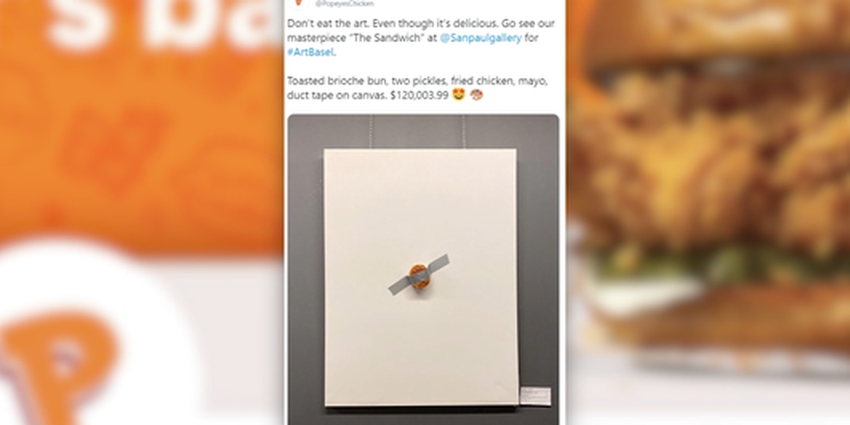 Popeyes sandwich replaces banana as art