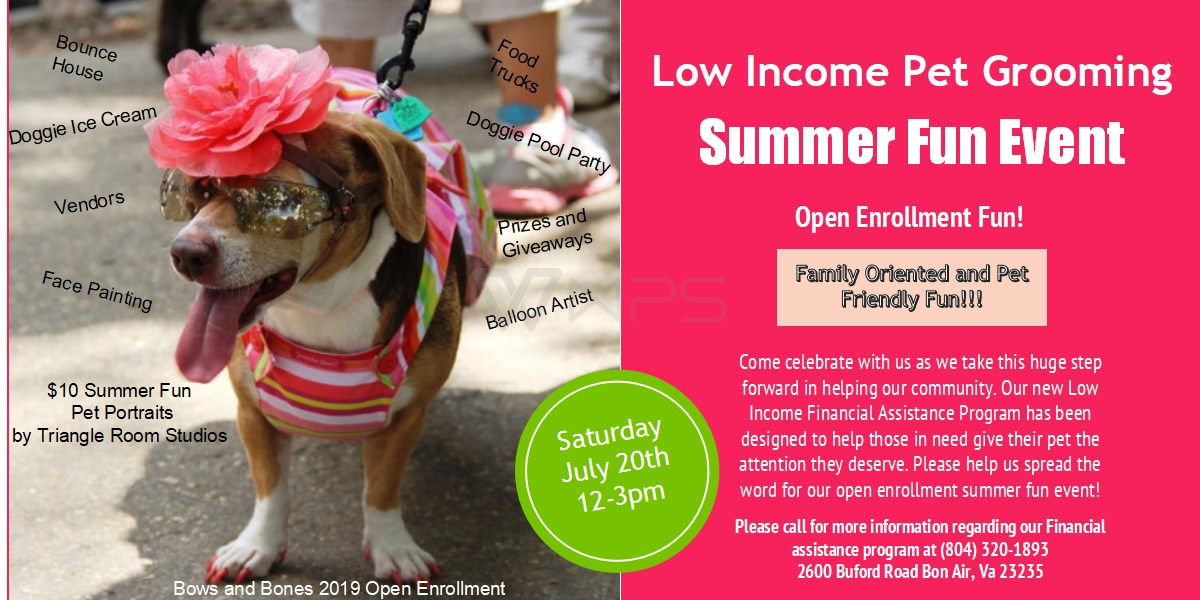 Pet grooming salon offering financial assistance program