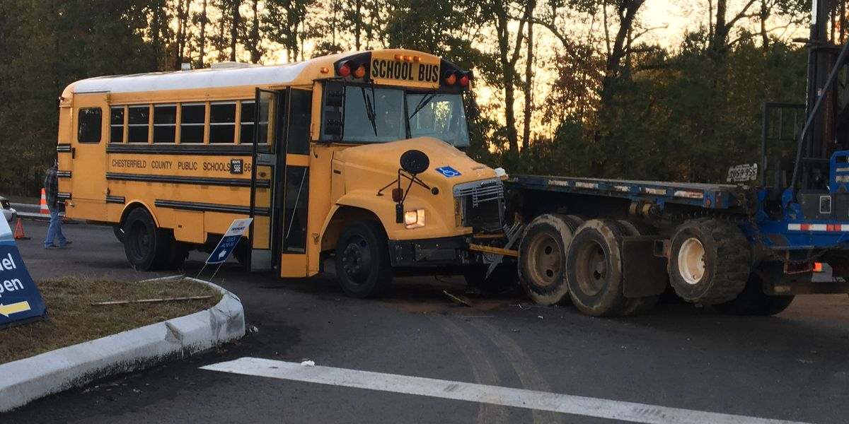Chesterfield school bus involved in crash
