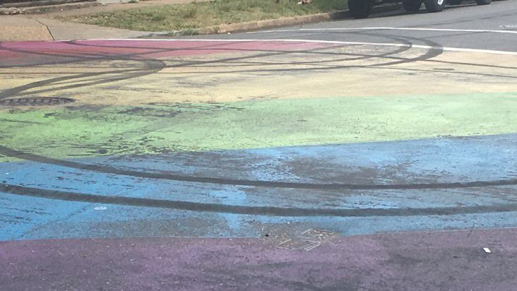 Driver defaces LGBTQ street mural in Richmond