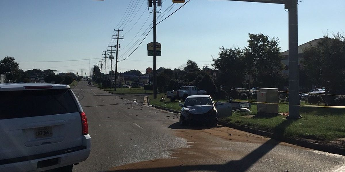Multiple vehicle collision in Chesterfield causes chemical spill