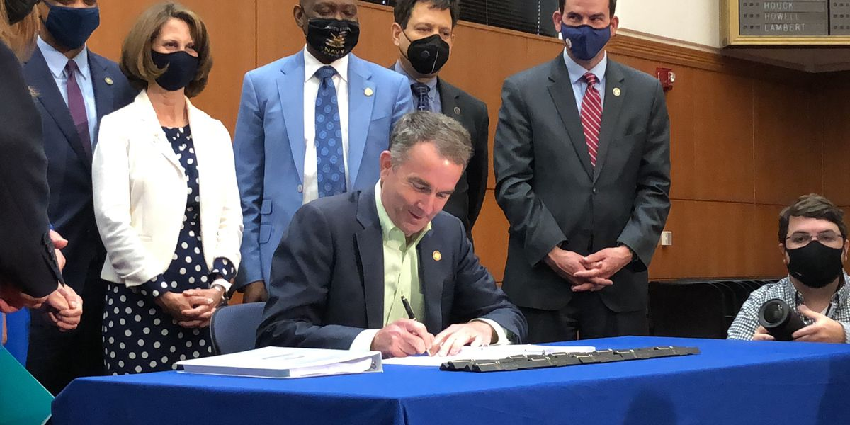 Gov. Northam signs marijuana legalization bill