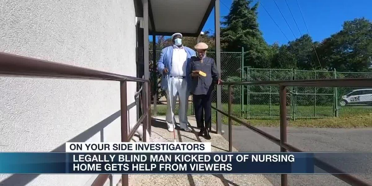 Legally blind man kicked out of nursing home gets help form viewers