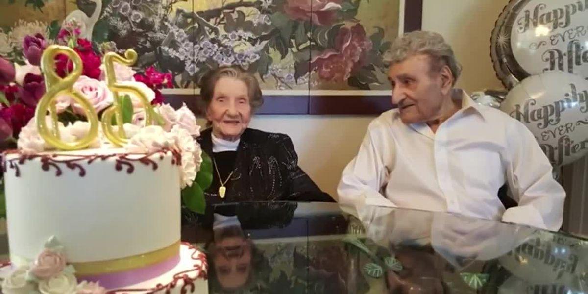 America's longest-living couple celebrates 85th wedding anniversary