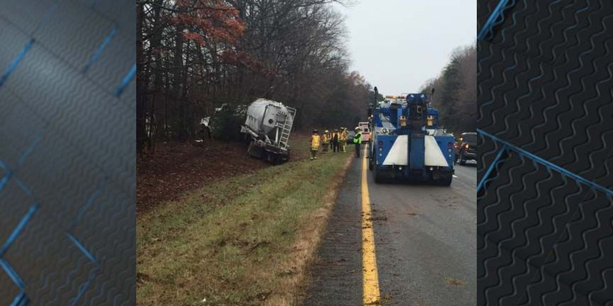 Tractor trailer leaking out 150 gallons of fuel on I-64, left lane closed
