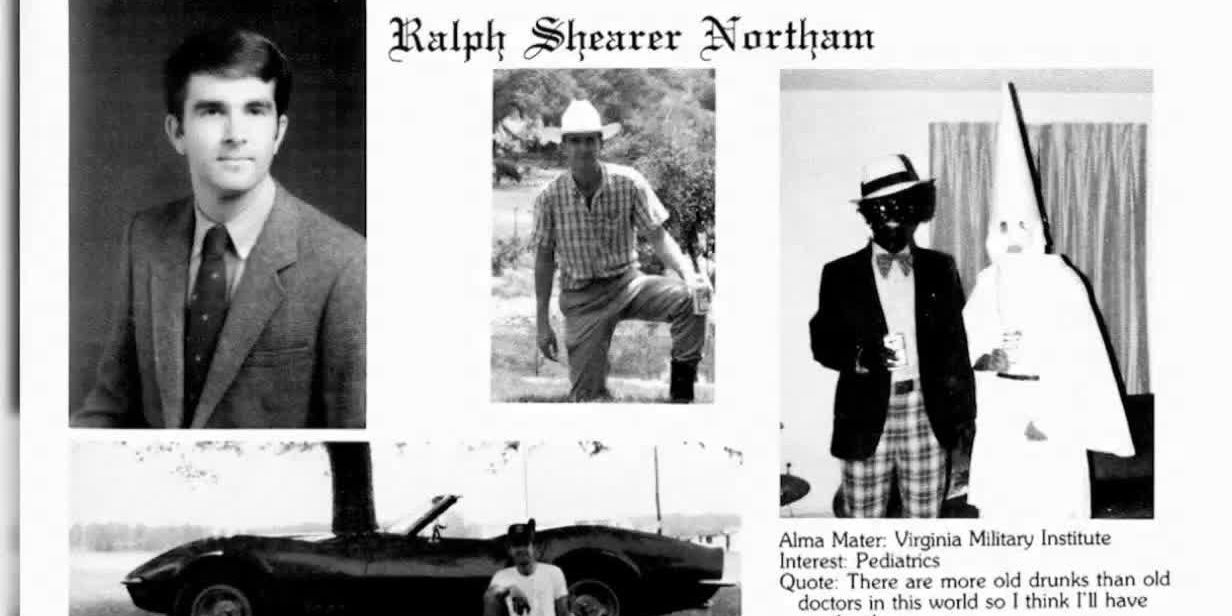 Gov. Northam's yearbook page
