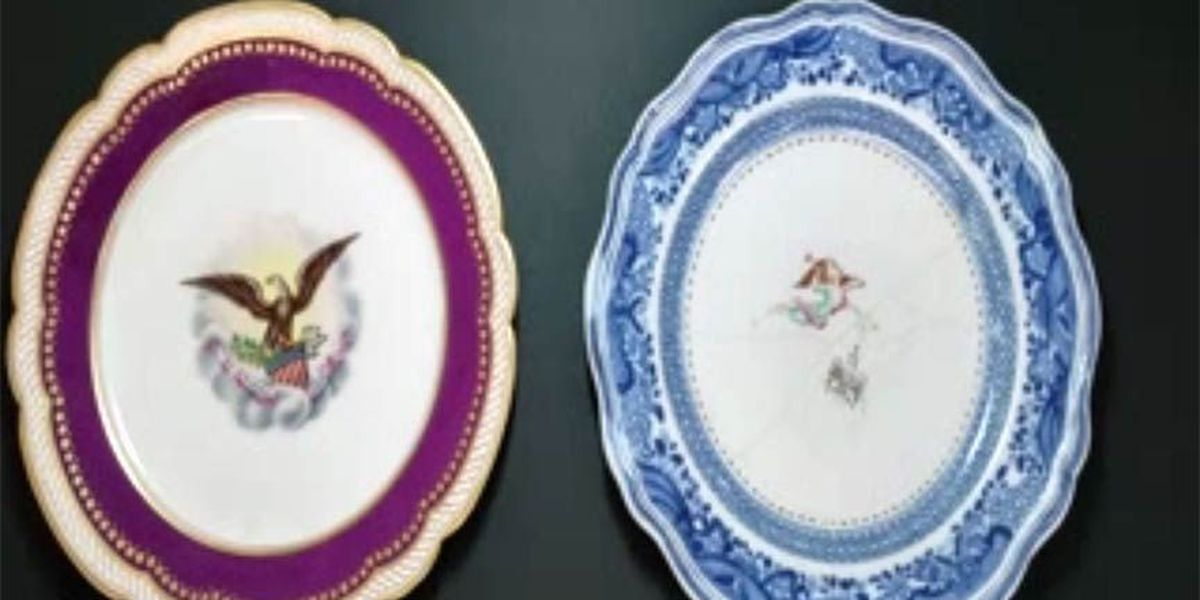 Restoration company repairs Washington, Lincoln china