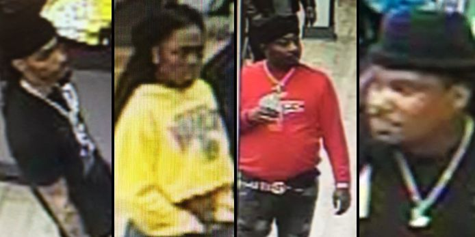 4 suspects wanted for credit card fraud