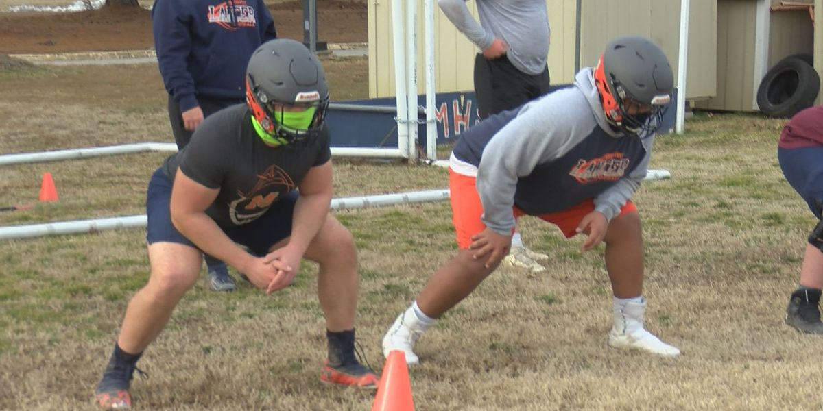 After long wait, high school football teams open official practices