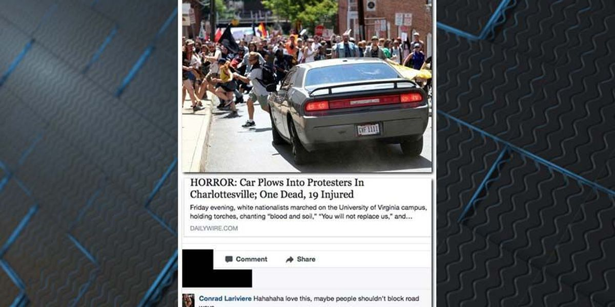 Cop who wrote 'Hahaha love this' after Charlottesville fired