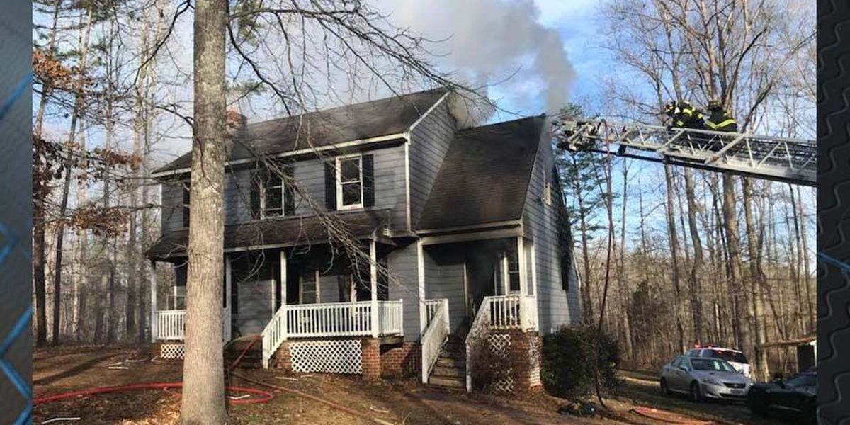 Firefighters respond to Powhatan home, battle flames on both floors