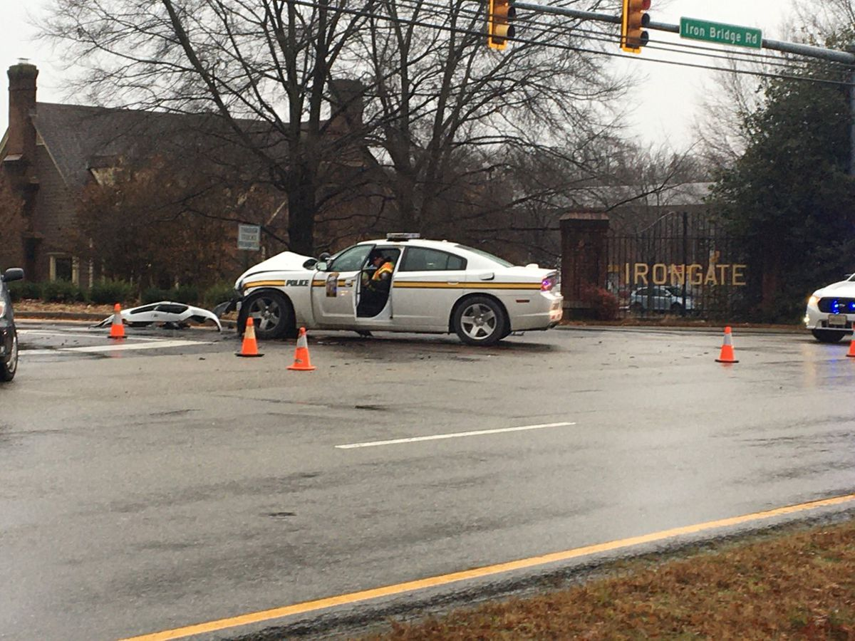 1 injured in crash involving police vehicle