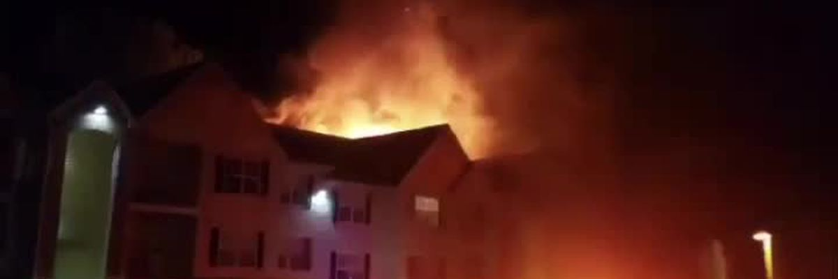 Fire in Brandy Mill Apartments