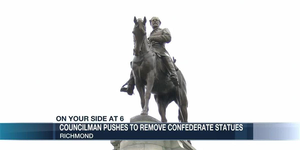 Councilman pushes to remove confederate statues