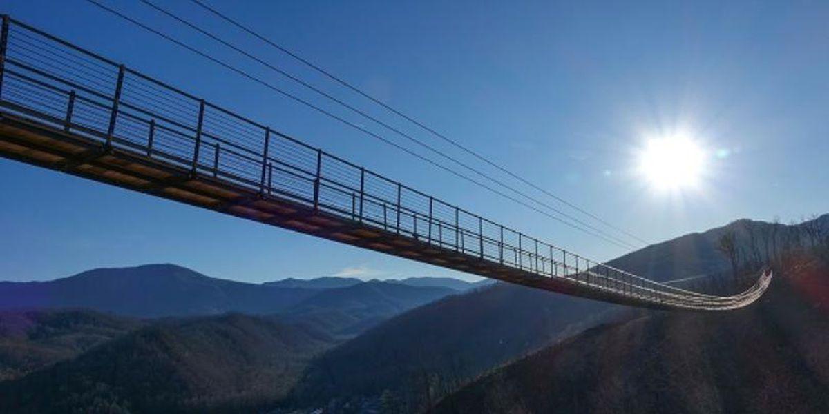 Longest pedestrian suspension bridge in North America to open in Gatlinburg, TN